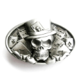 Skull Card Player Belt Buckle (SKU: CS-036-AS)