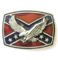 Eagle on Confederate Flag Belt Buckle