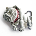 Bulldog with Red Collar Belt Buckle