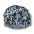 Line Dancing Belt Buckle