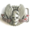 Rebel Rider Skull Belt Buckle