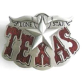 Texas LoneStar Red with Bull Horns