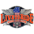 Live to Ride Belt Buckle (SKU: X7E)