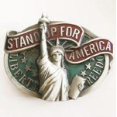 Stand Up For America Belt Buckle