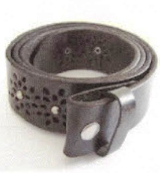 Black Leather Belt with Rivets