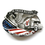 Truck Driver - American Hero Belt Buckle