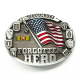 Vietnam Vet Forgotten Hero Belt Buckle