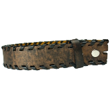 Brown Braided-Edge Leather Belt