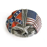 Confederate/American Flags with DIXIE Belt Buckle