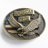 American Pride Belt Buckle - Antique Brass