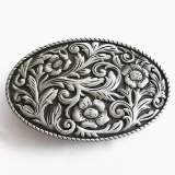Western Scroll Belt Buckle