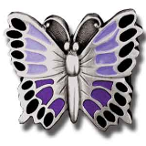 Purple Butterfly Belt Buckle