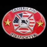 American Firefighter Belt Buckle