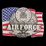 U.S. Air Force w/Flag Belt Buckle