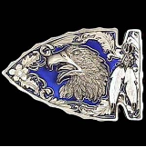 Eagle on Arrowhead Belt Buckle