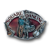 Square Dancing Belt Buckle