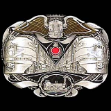 Twin Locomotives Belt Buckle