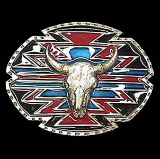 Southwestern Buffalo Skull Belt Buckle
