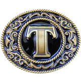 "Monograms™ ""T"" Belt Buckle"