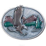 Eagle Over Mountains Belt Buckle