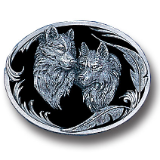Two Wolves Belt Buckle