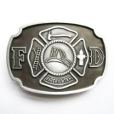 Fire Fighter Antique Silver Belt Buckle