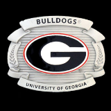 Georgia Bulldogs Oversized College Belt Buckle