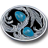 Scroll & Stones Pewter Belt Buckle