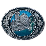 Eagle w/Western Scroll Belt Buckle