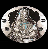Indian Warrior Belt Buckle