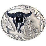 End of the Trail Diamond Cut Belt Buckle