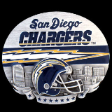 San Diego Chargers NFL Belt Buckle