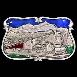 Train in the Mountains Belt Buckle