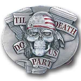 Till Death Do Us Part Belt Buckle