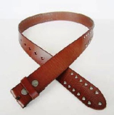 Brown Genuine Leather Belt with Rivets