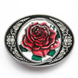 Western Roped Edge Rose Belt Buckle