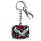 Eagle on Confederate Flag Key Ring
