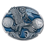 Eagle w/Indian Nickels Belt Buckle