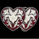 Western Double Heart Belt Buckle