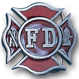 Fireman's Cross Belt Buckle