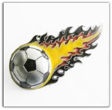 Football Fire Belt Buckle - Yellow