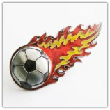 Football Fire Belt Buckle - Red