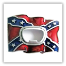 Confederate Flag Bottle Opener Belt Buckle