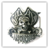 Armourdillo Belt Buckle - Antique Silver