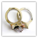 Handcuffs Belt Buckle - Chrome Finish
