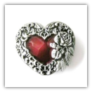 Heart with Red Center Belt Buckle
