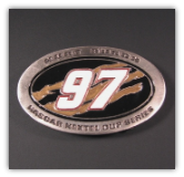 #97 Kurt Busch NASCAR Belt Buckle