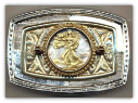 World Coin Belt Buckles