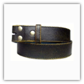 Black Distressed Leather Belt