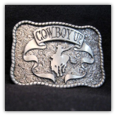 Cowboy Up Belt Buckle